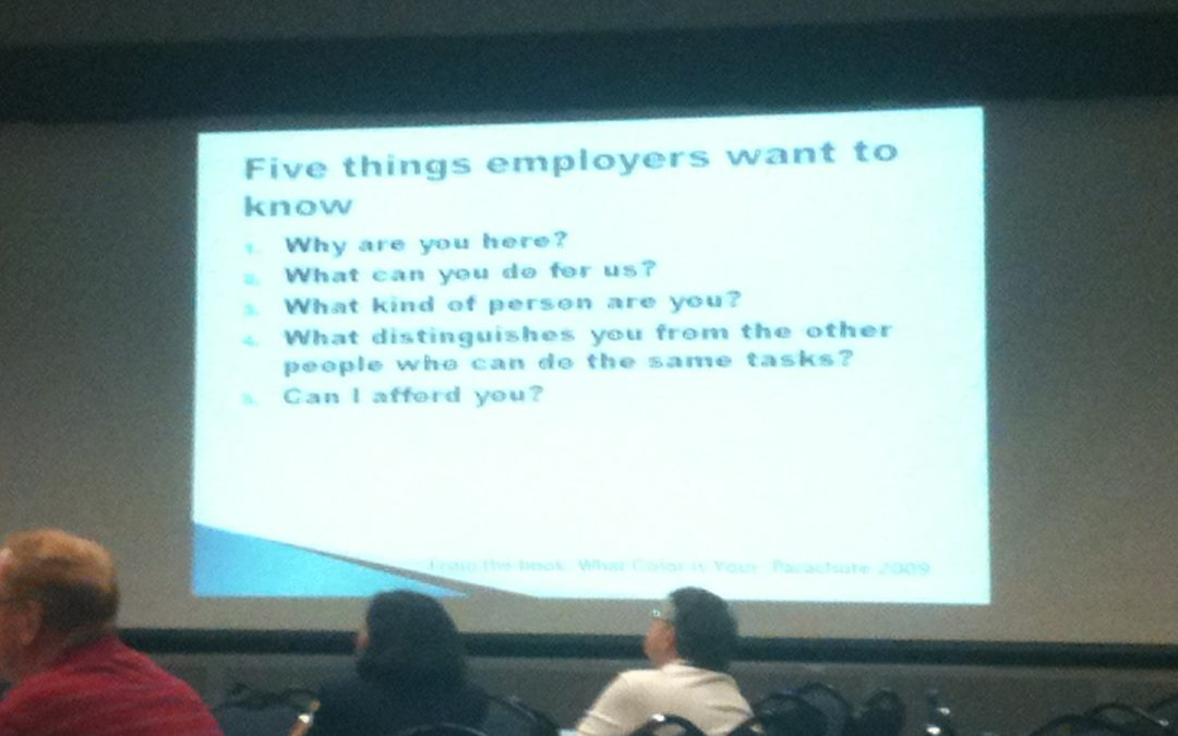 Five Things Employers Want to Know