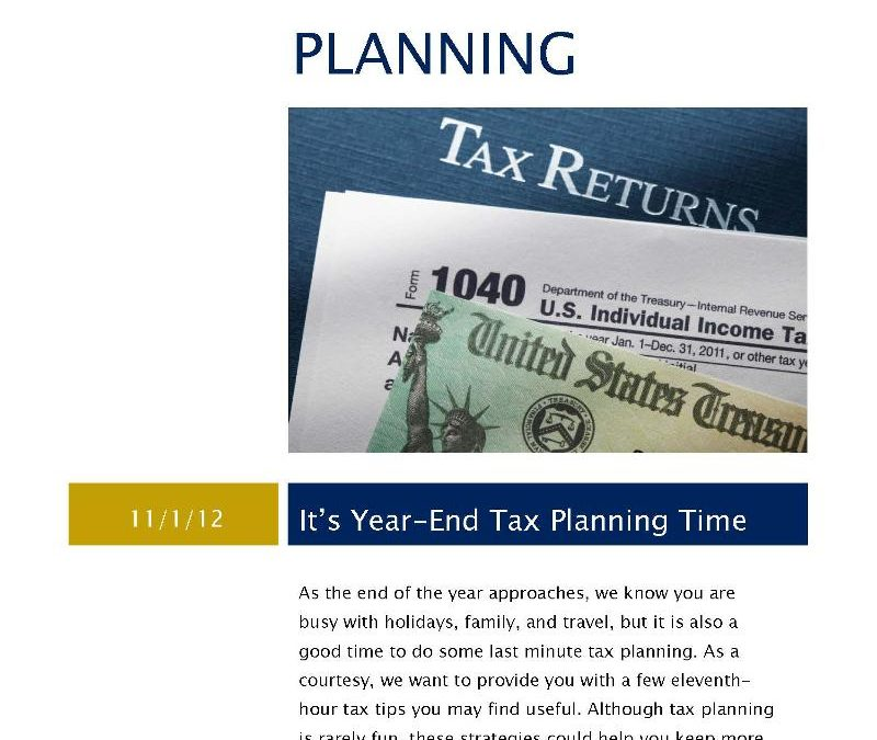 2013 Tax Planning Guide