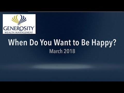 When Do You Want To Be Happy?