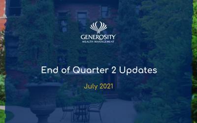 2021 End of Quarter 2 Updates